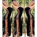 Sexy Hot Женщин Женское Белье Высокого Сплит Бинты Кружева оберните Грудь Спальный Платье Один Размер Эротическое Искушение Длинные Пижамы нижнее белье