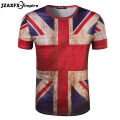 camisetas masculina Mens Union Jack T Shirt  Short Sleeve O Neck Men Print UK Flag T-shirt retro man shirts camiseta masculina