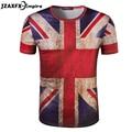 camisetas masculina Mens Union Jack T Shirt  Short Sleeve O Neck Men Print UK Flag T-shirt retro man shirts camiseta masculina