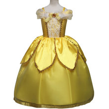 Kids Carnival Clothing Beauty And The Beast Bella Princess Cosplay Costumes Girl Christmas Halloween Party Long Dresses Children цены онлайн