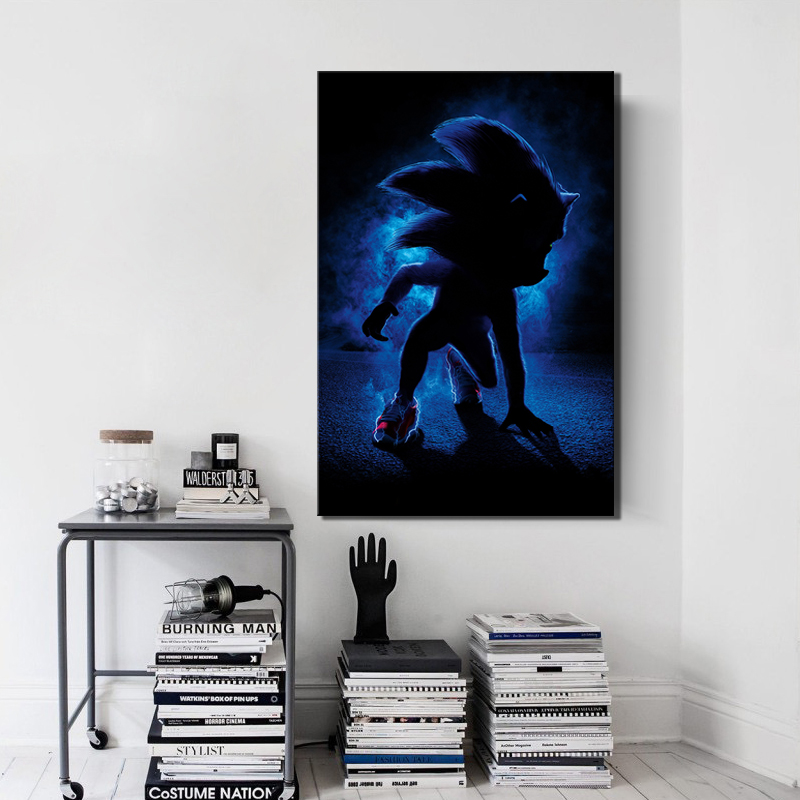 Home Decor Modular Poster Pictures 1 Panel Sonic The Hedgehog