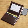 LANSPACE brand cow leather men's small wallet fashion leather business card case
