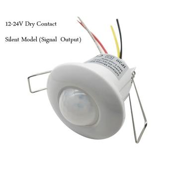 Contacto seco silencioso inteligente 12 V-24 V techo mini interruptor de sensor de movimiento infrarrojo señal