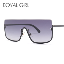 ROYAL GIRL Women's Sunglasses Conjoined Spectacle Lens Flat Top