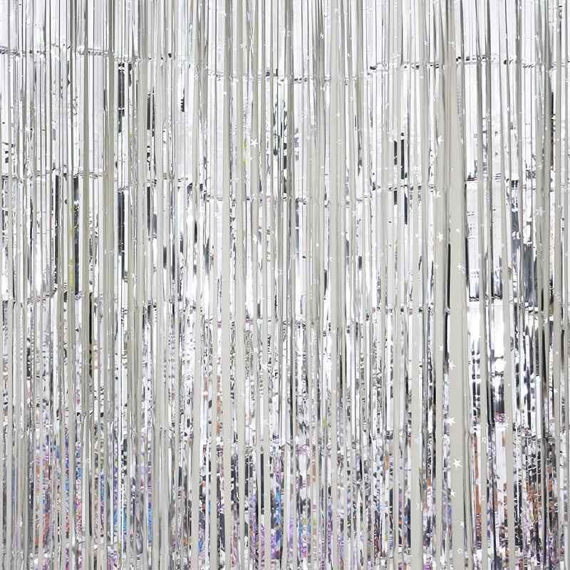 AsyPets металлическая бахрома-шторы Вечерние Блестки из фольги для дома комнаты сценического декора стен двери украшения-30