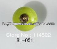 New design green ceramic knobs furniture handles knobs wardrobe and cupboard knobs drawer dresser knobs cabinet pulls BL-051