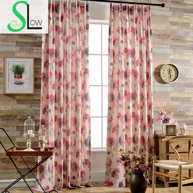 Slow Soul Color Rhyme Light Pink Modern Fashion Exquisite Curtain ...
