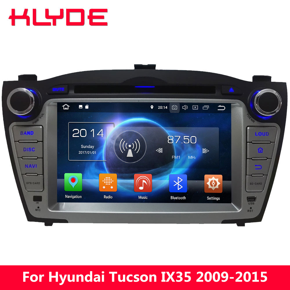 KLYDE 4G WIFI Octa Core PX5 Android 8.0 7.1 6.0 4GB RAM Car DVD Multimedia Player Stereo Radio For Hyundai Tucson IX35 2009-2015 10 1 tda7851 android 7 1 for hyundai ix35 tucson 2015 2016 2017 2gb ram car dvd player gps map rds radio wifi 4g bluetooth 4 0