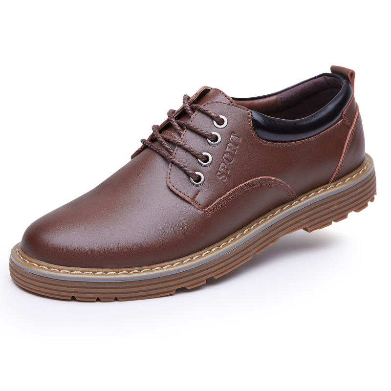 2017 New Fashion Leather Casual Shoes Men Lace-Up Business Office Shoes Male Wedding And Party Travel Waterproof Shoes Black
