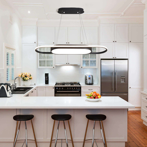 Image 4 - Length 90cm hanging lights White/Black Modern led Pendant Lights For Dining room Kitchent room Bar Pendant Lamp light fixtures