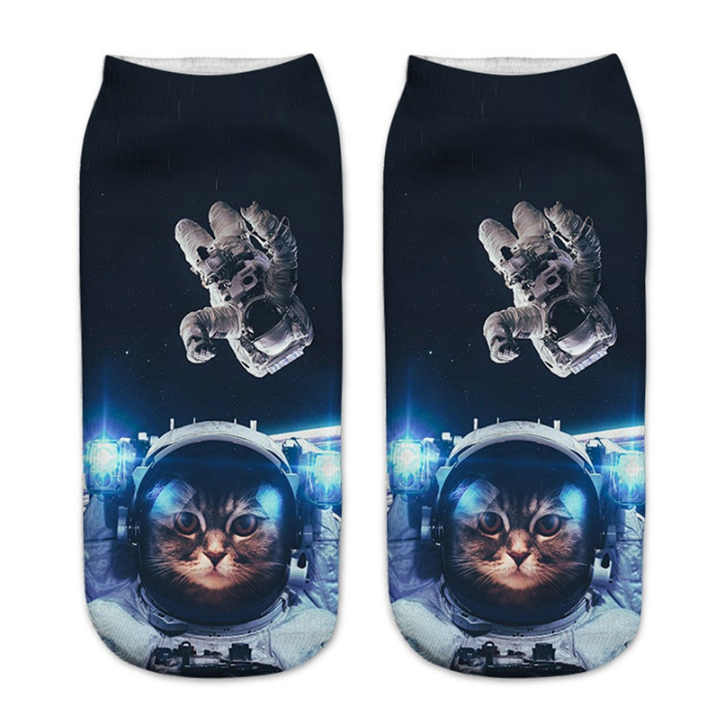 Cute cat print 3D socks happy funny socks men Women comfortable Medium Sports Casual Work Business Socks #2S29 (5)