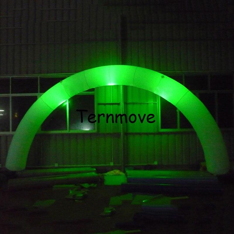 Arc gonflable Commercial décoratif de LED ronde annonçant la porte gonflable d'arc pour l'événement de mariage de partie