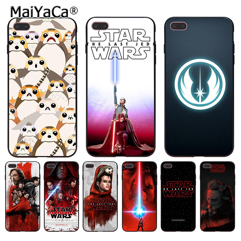 MaiYaCa Star Wars The Last Jedi Porgs Design Coque Shell Phone Case for Apple iPhone 8 7 6 6S Plus X 5 5S SE 5C Cellphones