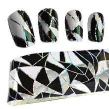 100cm x 4cm Nail Art İpuçları dekorasyon yapıştırıcı transferi folyo tırnak Sticker yapıştırıcı tutkal çıkartmaları Glitter manikür araçları LAXK11