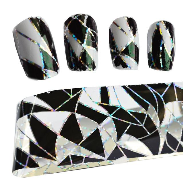 Adornos de decoración para uñas transferencia pegamento láminas pegatina adhesivo de uña pegamento calcomanías Glitter manicura herramientas LAXK11, 100cm x 4cm