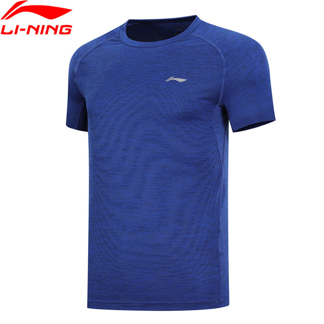 a4c0720e0330 Li-Ning Men Running T-Shirt AT DRY Breathable 100% Polyester T-shirts  LiNing Slim Fit Sports Tee Tops ATSN203 MTS2858