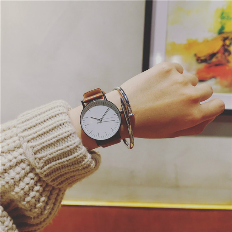 Simple Style Famous Brand Watches Women Top Luxury Leather Quartz Casual Watch Unisex Wristwatches Fashion Design Clock baosaili fashion wrist watch men watches brand luxury famous male clock women unisex simple classic quartz leather watch bs996