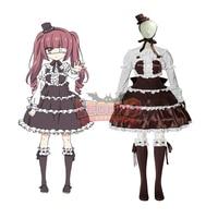 Cosplaylegend Jashin chan Dropkick Yurine Hanazono Cosplay Costume Outfit Halloween Adult Costume Custom Made dress skirt