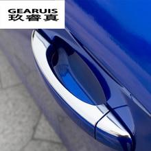 Тюнинг автомобилей отделкой дверные ручки крышки из нержавеющей стали наклейки внешней отделки для Audi A3 8 В A4 B8 Q3 Q5 2009- 2016 Интимные аксессуары