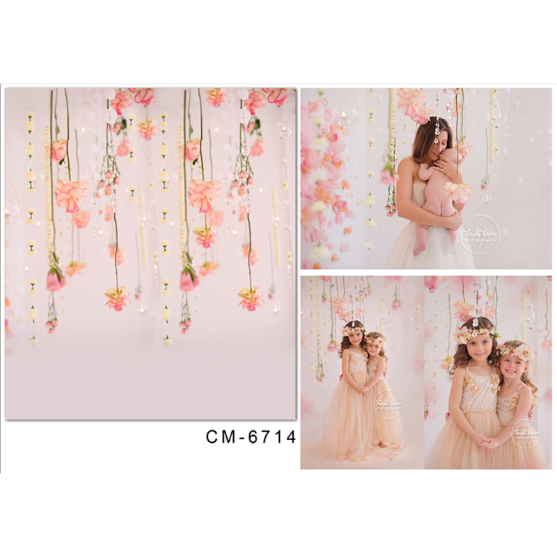 Children Photography Backdrops Pink flowers Computed printed Vinyl Photography Backdrops for Photo Studio 5x7ft CM-6714 vinyl photo background for baby studio props wooden floor christmas photography backdrops 5x7ft or 3x5ft jiesdx005