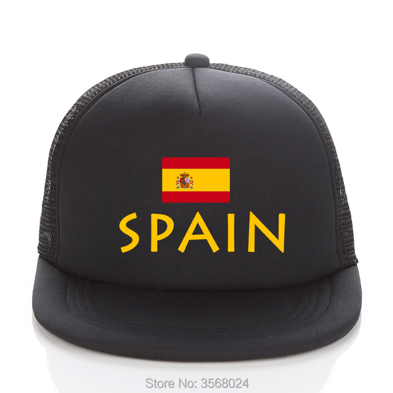2018 gorra de béisbol de fútbol de españa dorada gorras de camionero de  malla de fútbol verano niños hombres bandera de España sombrero de sol  Snapbacks ... 45bdeacf572