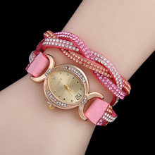 цена на Hot Sell New Rhinestone Bracelet Wristwatch Women Dress Watches Women Luxury Brand Quartz Watch relogio feminino
