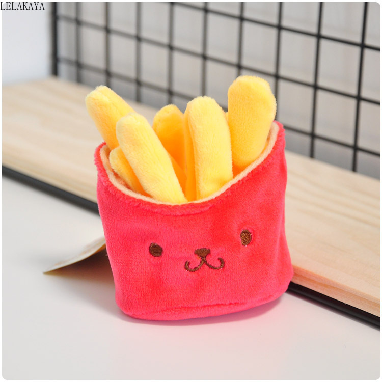 1pcs Anime Plush Keychains Totoro Cartoon Animal Mini Creative Lovely French Fries Soft Stuffed Plush Keychain Pendants Toy Doll