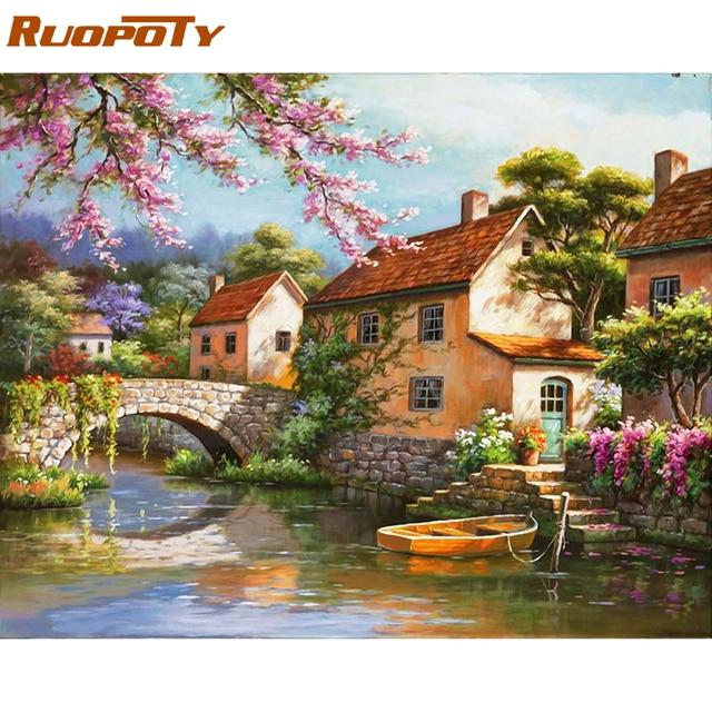 Ruopoty Cornice Paesaggio Di Campagna Pittura Di Diy Dai Corredi Di