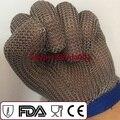 Кольчужной Перчатки Сетка Стандарт CE En 388 420 Стандартных 5 Пальца Перчатки 100% Из Нержавеющей Стали Сварочные Перчатки.
