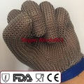 Chain Mail Glove Mesh CE Standard En 388 420 Standard 5 Finger Glove 100% Stainless Steel Welding Glove.