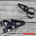 Универсальный изготовленный на заказ ручной черный стальной кронштейн для фар кронштейн для поворотов на заказ Ретро винтажный мотоциклет...