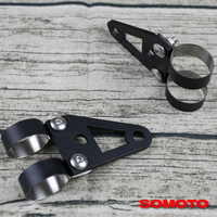 Universal Custom Hand Made Black Steel Headlight Bracket Turn Lights Bracket For Custom Made Retro Vintage