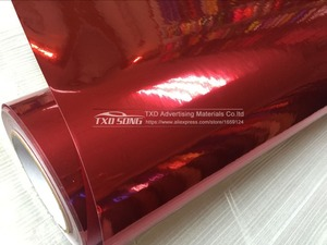 Image 2 - 7 Sizes High quality Strechable chrome mirror red film Flexible car mirror red vinyl sticker Decal sheet