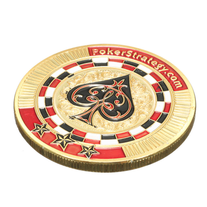 Hot Sale Iron Poker Guard Card Gold Plated With Round Plastic Case Protector Coin Poker Chips Entertainment Friends Parties