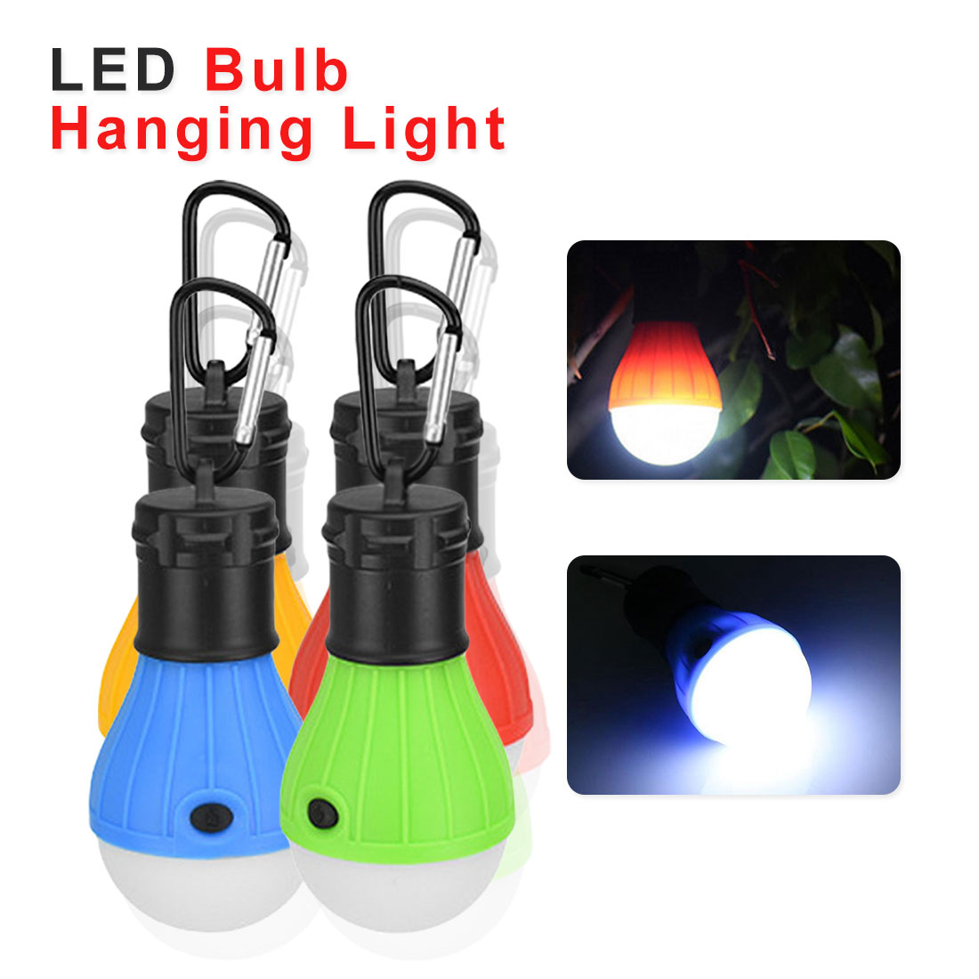 3 LED Tent Hanging Lamp 3 Modes Outdoor  Carabiner Bulb Light Carpas De Camping Tent Accessories Kemping Accesorios