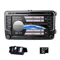 Hizpo 2DIN автомобильный DVD Играть Авторадио gps для angen Passat седан/универсал/Alltrack/CC Touran Tiguan Sharan Bluetooth 3g USB 1080 P
