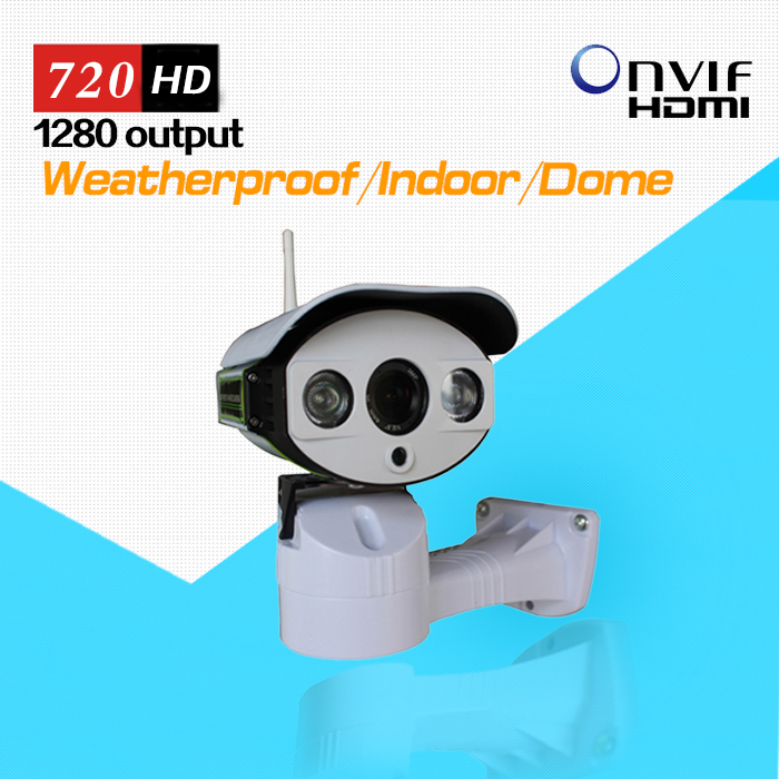 Wifi Wireless Outdoor IP Camera Pan Tilt Rotation ONVIF 720P HD with TF/Micro SD Slot Two Way Audio Array IR