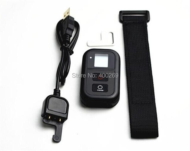 Gopro wifi del mando de control para go pro accesorios de la cámara hero 4 3 + 3 gp235 edición de plata negro