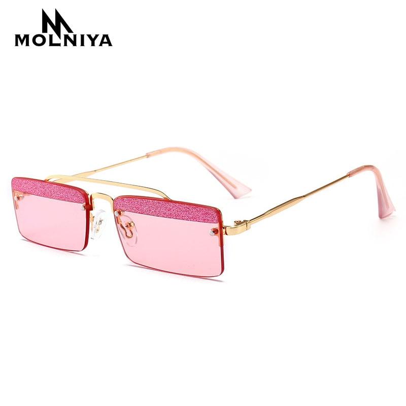 MOLNIYA Retro Kleine Rechteck Sonnenbrille Männer sommer 2018 Candy - Bekleidungszubehör