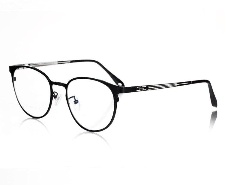Mode jante ronde titane haute qualité optique prescription lunettes oeil verre cadre lunettes pour homme et femme 1128