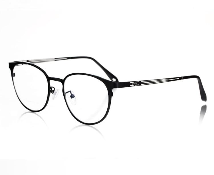 Mode ronde jante titane de haute qualité optique prescription lunettes eye verre cadre des lunettes pour homme et femmes 1128