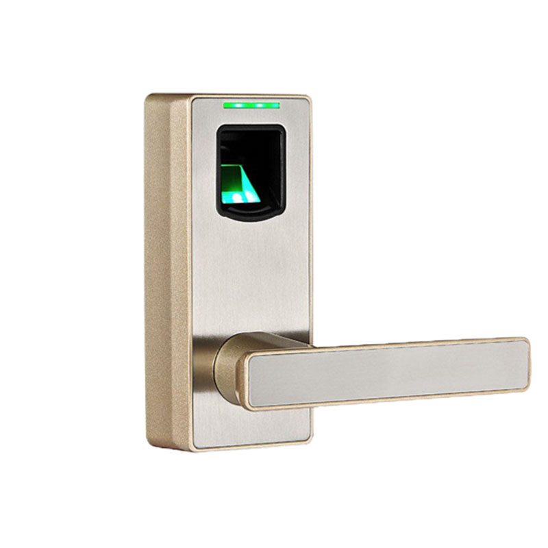 biometric fingerprint door lock with mechanical key freestyle handle smart entry intelligent electric keyless - Biometric Door Lock