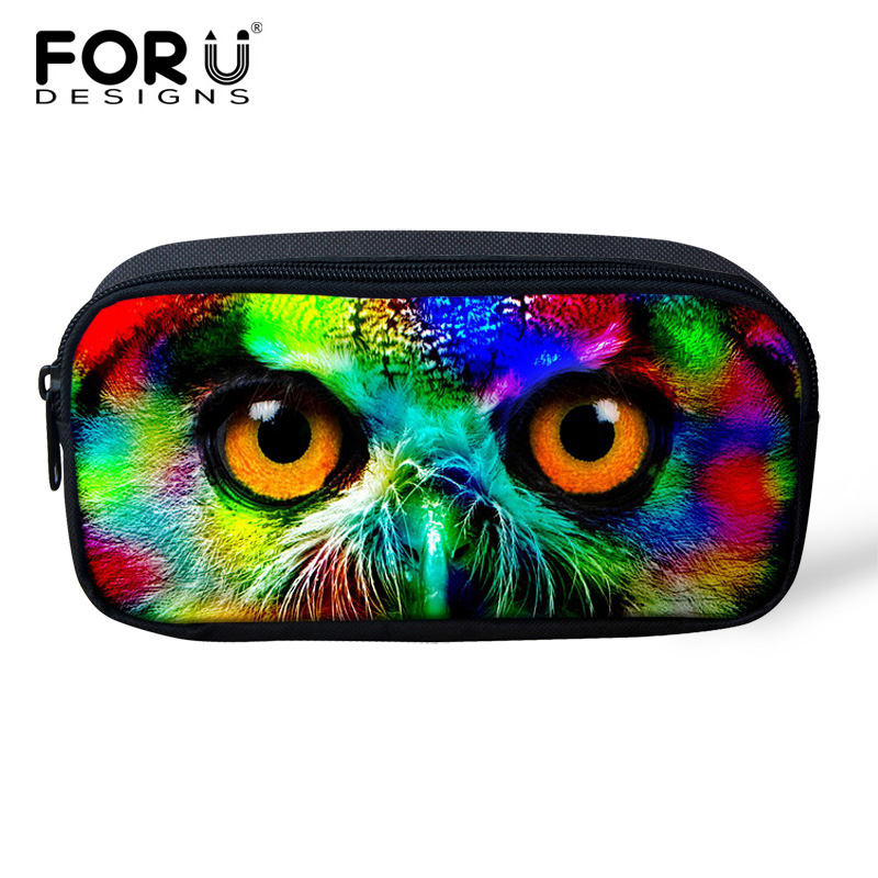 Colorful Zoo Animal Makeup Bag Women Cosmetic Bags Cases for Children Boy Girls Portable Female Travel Organizer Toiletry Bag