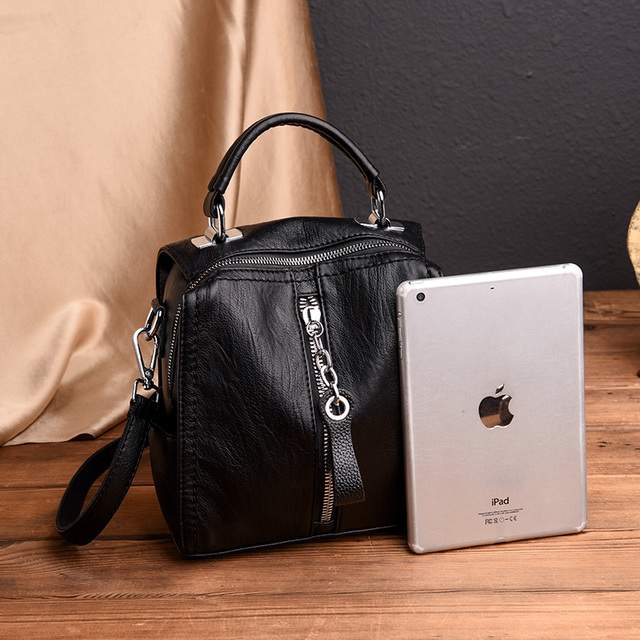 Glorria Luxury Cow Leather Handbags Women Bags Designer Fashion Shoulder 4