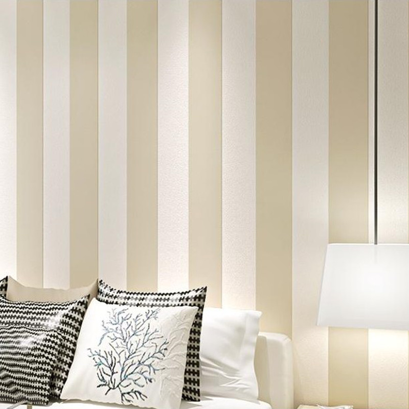Victorian modern simple large vertical striped wallpaper for Striped wallpaper bedroom designs