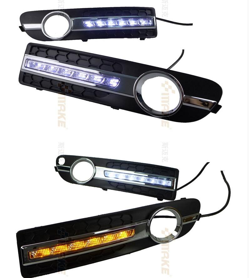 eOsuns светодиодными фарами дневного света DRL для Volvo S80 с СИД DRL 2009-2013,с функцией желтые поворотники