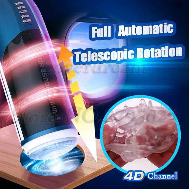 4D kanał automatyczny tłok teleskopowy Whirlpool obrót sztuczna pochwa z prawdziwą pochwą wibrator męski Masturbator seks zabawka dla mężczyzn