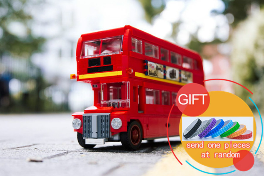 21045 1716Pcs Technical Series The London Bus Set Model Building Blocks compatible 10258 Children Toys Gifts lepin new lepin 16009 1151pcs queen anne s revenge pirates of the caribbean building blocks set compatible legoed with 4195 children