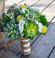 Bride Holding Flowers Bridal Bouquet Bouquet Simulation Fleshier plant Rustic 2015 Wedding Bouquet