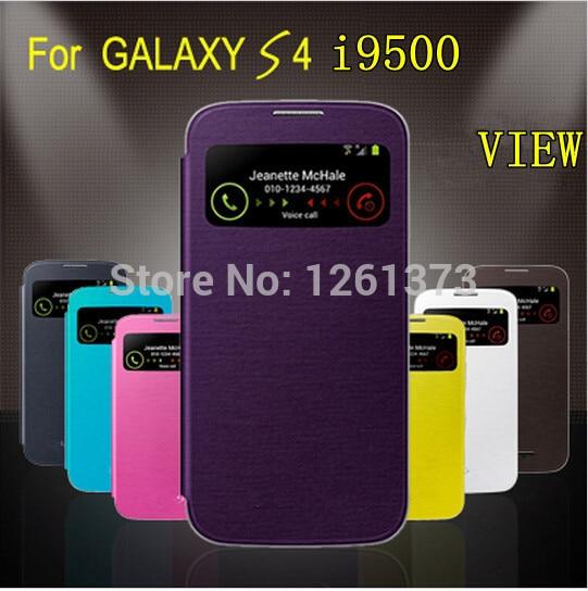 Funkce Wake / Sleep open view window Zadní kryt baterie Flip Pouzdro pro Samsung Galaxy S4 SIV S 4 i9500 9500 Ab2